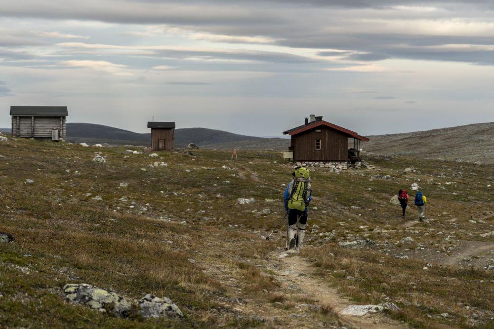 Arriving at Kuonjarjoki hut