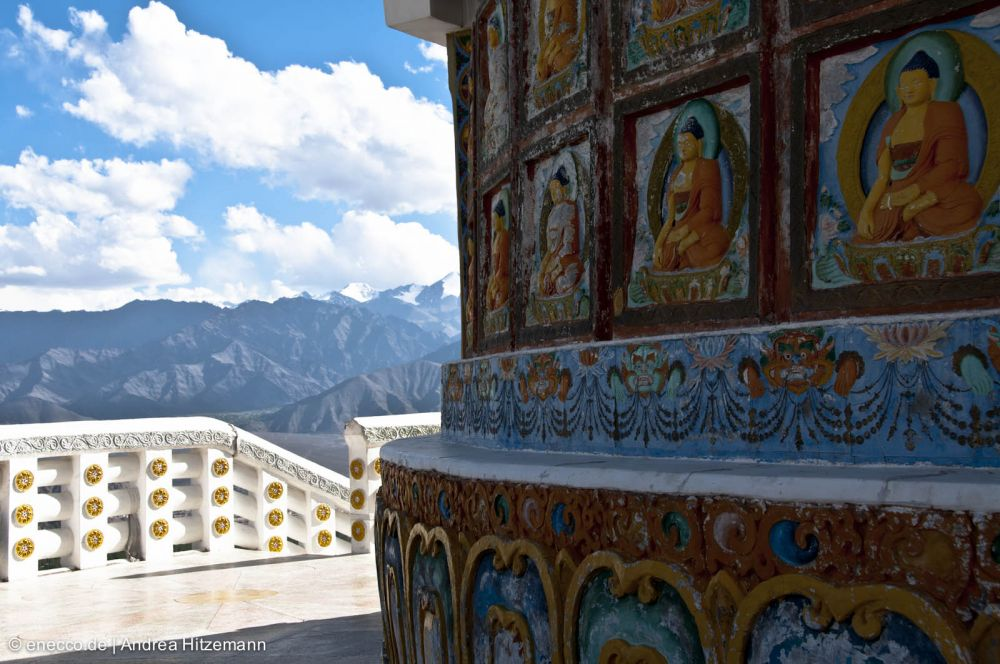 Leh Paintings on Shanti Stupa